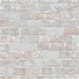 Vliesové tapety na stenu 3D tehly sivo-hnedé s výraznou plastickou štruktúrou