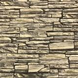 Vliesové tapety na stenu kamenná stena hnedá