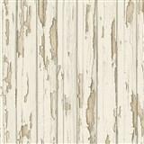 Vliesové tapety na stenu staré drevené dosky biele