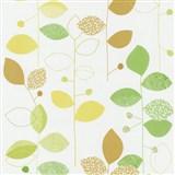 Papierové tapety na stenu X-treme Colors - listy zeleno-hnedé