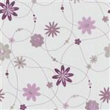 Papierové tapety na stenu X-treme Colors - kvety fialové