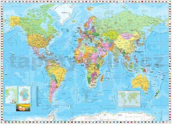 Fototapety Mapa Sveta Rozmer 254 Cm X 184 Cm Tapety Folie Sk