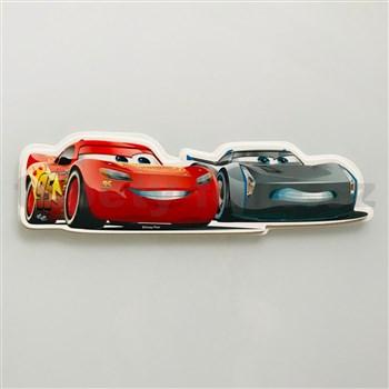 3D Penová dekorácia na stenu Auta McQueen a Jackson