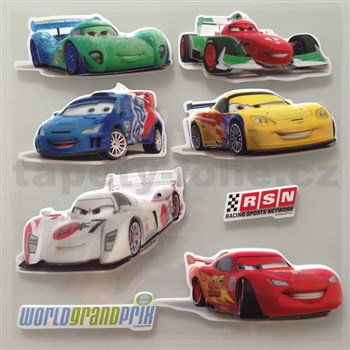 3D samolepky na stenu detské Cars