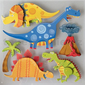 3D samolepky na stenu detské dinosaury