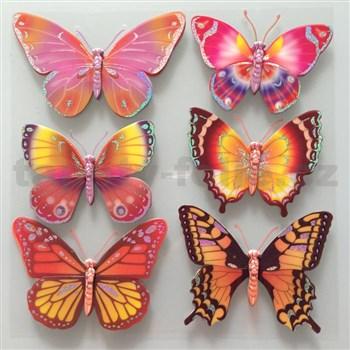 3D samolepky na stenu detské motýle