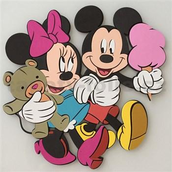 3D Penová dekorácia na stenu Miki a Minnie na zmrzline