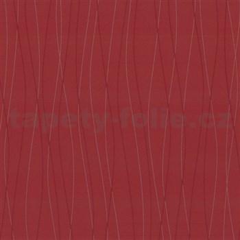 Vliesové tapety Belcanto - vlnovky červené