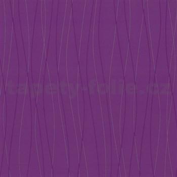 Vliesové tapety Belcanto - vlnovky fialové