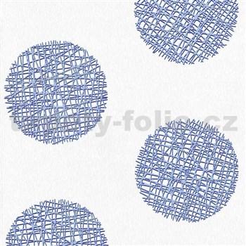 Vliesové tapety Belcanto - kruhy modré