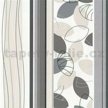 Vliesové tapety Belcanto - lístie šedo-hnedé