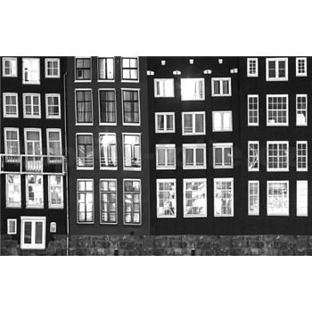 Luxusné vliesové fototapety Amsterdam - čiernobiele, rozmer 418,5 x 270cm