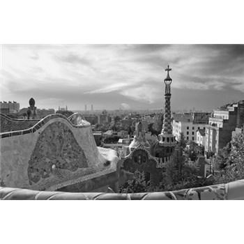 Luxusné vliesové fototapety Barcelona - čiernobiele, rozmer 418,5 x 270cm