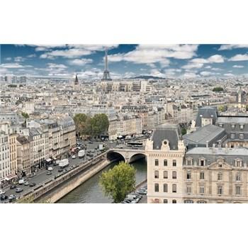 Luxusné vliesové fototapety Paríž - farebné, rozmer 418,5 x 270cm