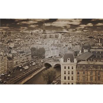 Luxusné vliesové fototapety Paríž - sépia, rozmer 418,5 x 270cm