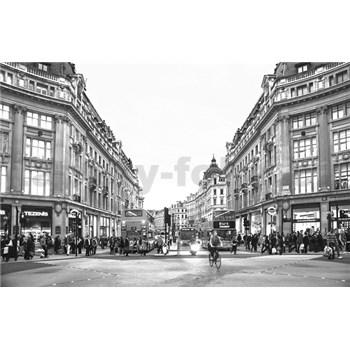 Luxusné vliesové fototapety Londyn - čiernobiele, rozmer 418,5 x 270cm