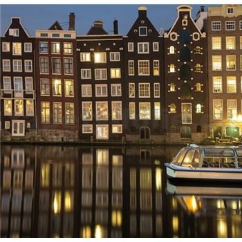 Luxusné vliesové fototapety Amsterdam - farebné, rozmer 279 x 270cm