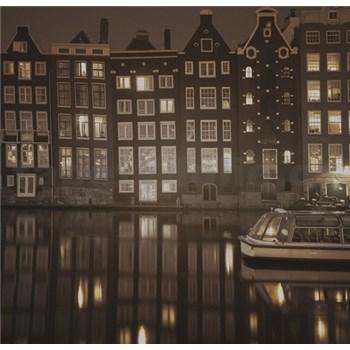 Luxusné vliesové fototapety Amsterdam - sépia, rozmer 279 x 270cm