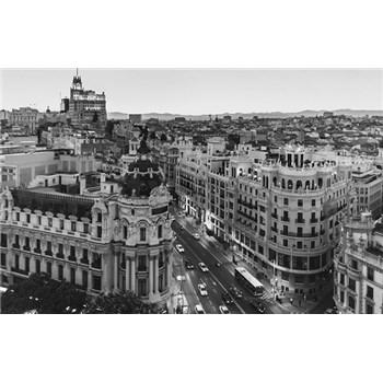 Luxusné vliesové fototapety Madrid - čiernobiele, rozmer 418,5 x 270cm
