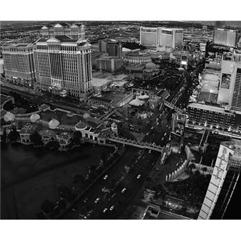 Luxusné vliesové fototapety Las Vegas - čiernobiele, rozmer 325,5 x 270cm