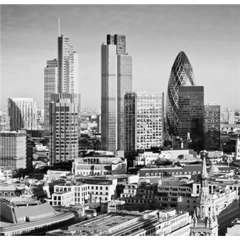 Luxusné vliesové fototapety Londyn - čiernobiele, rozmer 279 x 270cm