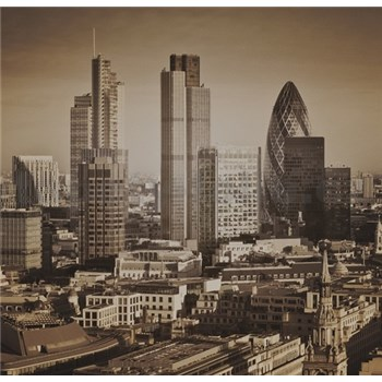Luxusné vliesové fototapety Londyn - sépia, rozmer 279 x 270cm