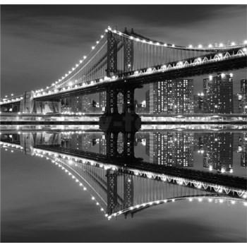 Luxusné vliesové fototapety New York - čiernobiele, rozmer 279 x 270cm