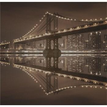 Luxusné vliesové fototapety New York - sépia, rozmer 279 x 270cm