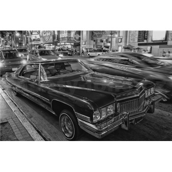 Luxusné vliesové fototapety Los Angeles - čiernobiele, rozmer 418,5 x 270cm