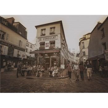 Luxusné vliesové fototapety Paríž - sépia, rozmer 372 x 270cm