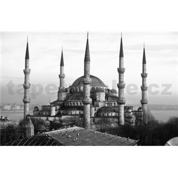Luxusné vliesové fototapety Istanbul - čiernobiele, rozmer 418,5 x 270cm