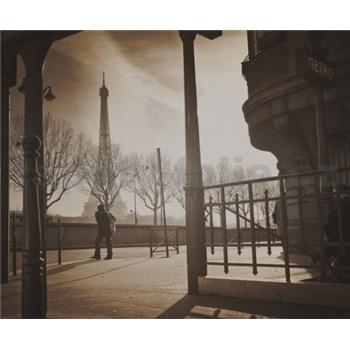 Luxusné vliesové fototapety Paríž - sépia, rozmer 325,5 x 270cm
