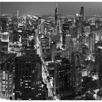 Luxusné vliesové fototapety Chicago - čiernobiele, rozmer 279 x 270cm