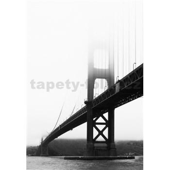 Luxusné vliesové fototapety San Francisco - čiernobiele, rozmer 186 x 270cm