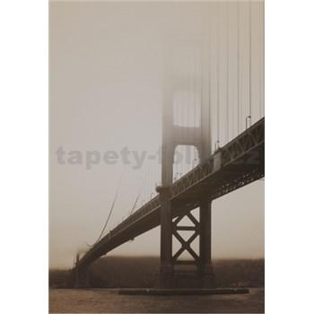 Luxusné vliesové fototapety San Francisco - sépia, rozmer 186 x 270cm