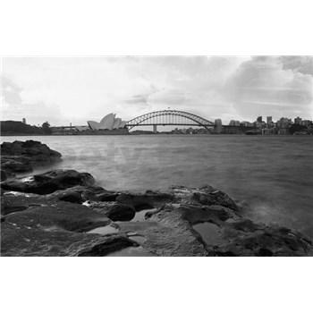 Luxusné vliesové fototapety Sydney - čiernobiele, rozmer 418,5 x 270cm
