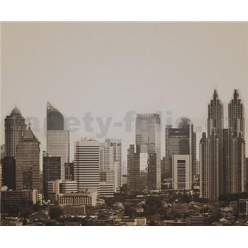 Luxusné vliesové fototapety Jakarta - sépia, rozmer 325,5 x 270cm