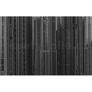 Luxusné vliesové fototapety Dubai - čiernobiele, rozmer 418,5 cm x 270 cm