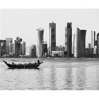 Luxusné vliesové fototapety Doha - čiernobiele, rozmer 325,5 x 270cm