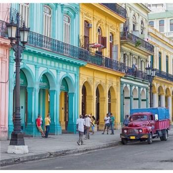 Luxusné vliesové fototapety Havana - farebné, rozmer 279 cm x 270 cm