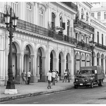 Luxusné vliesové fototapety Havana - čiernobiele, rozmer 279 cm x 270 cm