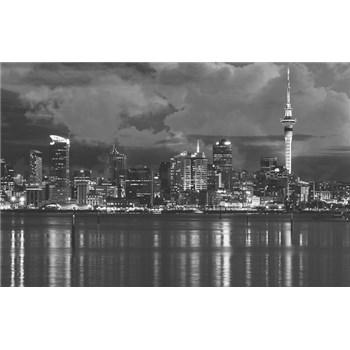 Luxusné vliesové fototapety Auckland - čiernobiele, rozmer 418,5 x 270cm