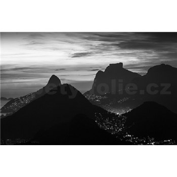 Luxusné vliesové fototapety Rio de Janeiro - čiernobiele, rozmer 418,5 x 270cm