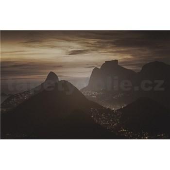 Luxusné vliesové fototapety Rio de Janeiro - sépia, rozmer 418,5 x 270cm