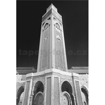 Luxusné vliesové fototapety Casablanca - čiernobiele, rozmer 186 x 270cm