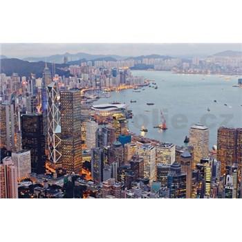 Luxusné vliesové fototapety Hong Kong - farebné, rozmer 418,5 cm x 270 cm