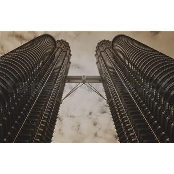 Luxusné vliesové fototapety Kuala Lumpur - sépia, rozmer 418,5 x 270cm