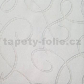 Vliesové tapety na stenu Collection 2 strieborné vlnky so sivými konturami na krémovom podklade