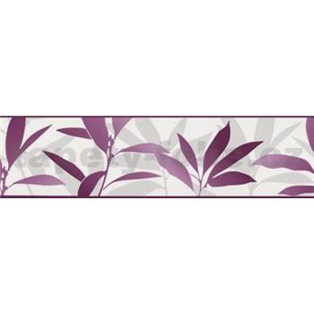 Bordúra Dieter Bohlen - lístia fialové 13,3 cm x 5 m