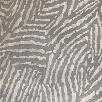 Vliesové tapety na stenu Einfach Schoner 3 biela so striebornými pruhmi